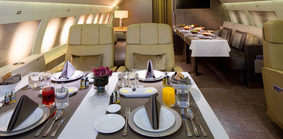 PHOTO: The interior of the Emirates A380, showing the Executive section.