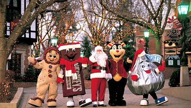 PHOTO: Treat the family to Breakfast with Santa at Hershey Lodge or plunder the shops in Hersheypark Christmas Candylane. Indulge in hot chocolate, s'mores and plenty of Kisses for all.