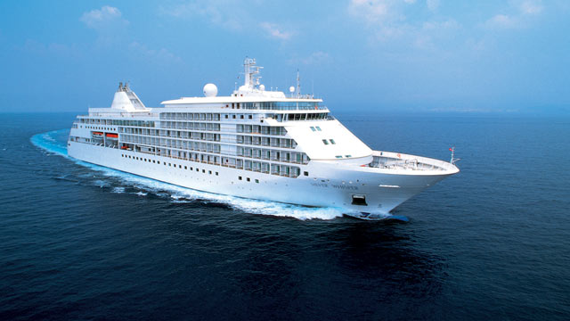 PHOTO: Seen here is a file photo of the Silver Whisper Cruise Ship, from Silversea Cruise lines.