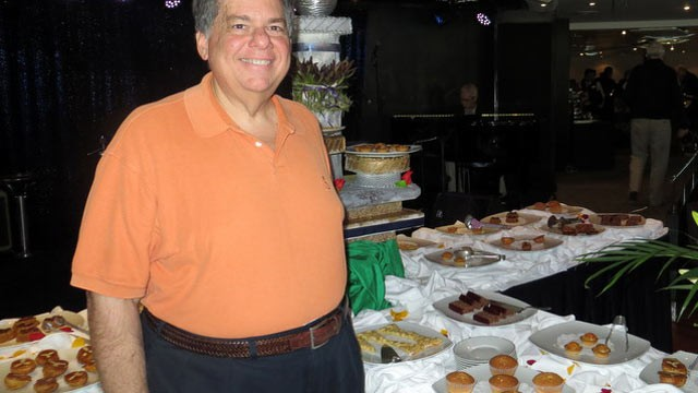 PHOTO: ABC News producer Tom Giusto at tea time aboard the Regent Seven Seas Mariner.