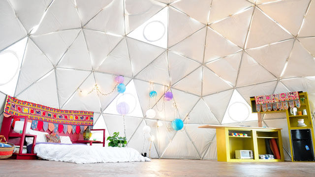 PHOTO: Pictured here, a yurt in residential East Austin, Texas.