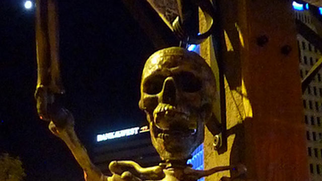 PHOTO:Albu-Creepy: Trolley of Terror. Generally, Albuquerque's ghosts are considered to be rather benevolent, but for Halloween, the downtown trolley takes guests on a far more sinister experience? with skeletons as greeters and cobwebs shrouding the trol