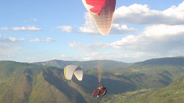 PHOTO: This paragliding adventure over the Aspen peaks is offered by Aspen Paragliding through select area hotels.