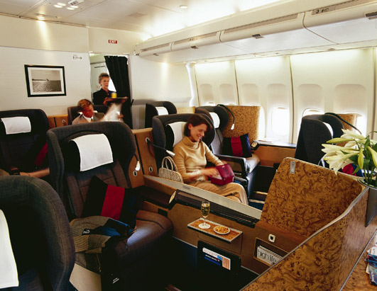 British Airways 1st Class cabin