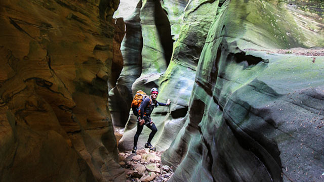 PHOTO: Rich Rudow is part of a new generation of modern explorers who risk death to go canyoneering to see the last of the American unknown.