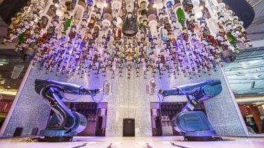 PHOTO: Drinks are made by robot bartenders on board the Quantum of the Seas.