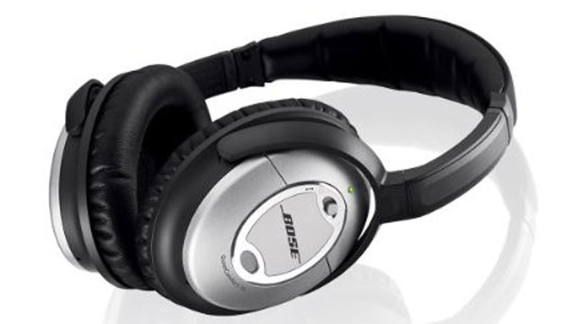 PHOTO: Noise canceling headphones by Bose are seen here.
