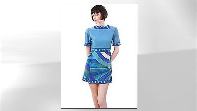 PHOTO: The Braniff International uniform from the 1970's featured a mini dress.