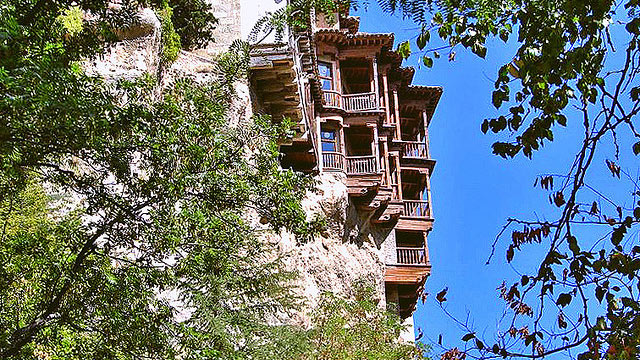 PHOTO: The Casas Colgadas (Hanging Houses) in the old city part of Cuenca, Spain, have served many purposes besides attracting tourists over the centuries.