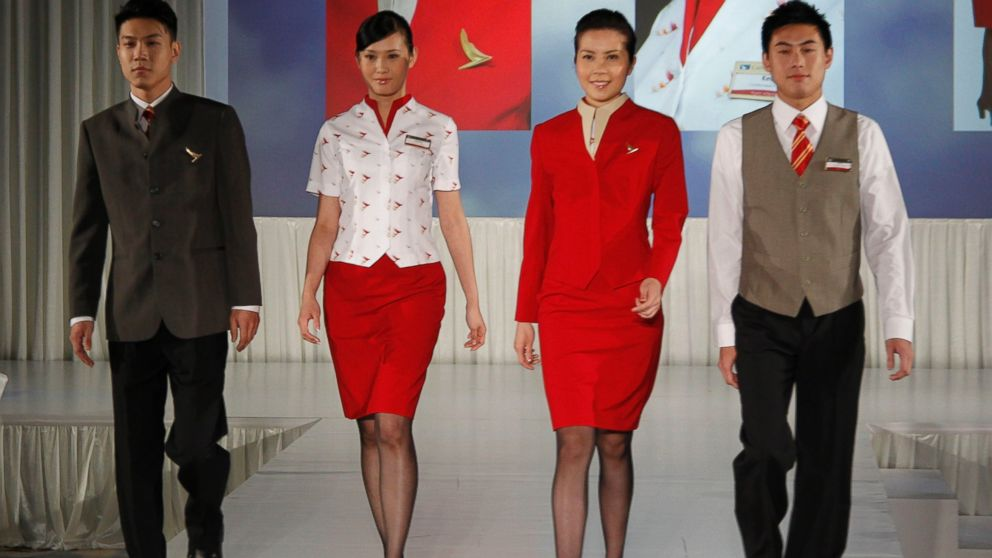PHOTO:The South China Morning Post reported Cathay Pacific flight attendants are asking the airline to redesign its uniforms for women because they are too revealing and may provoke sexual harassment.