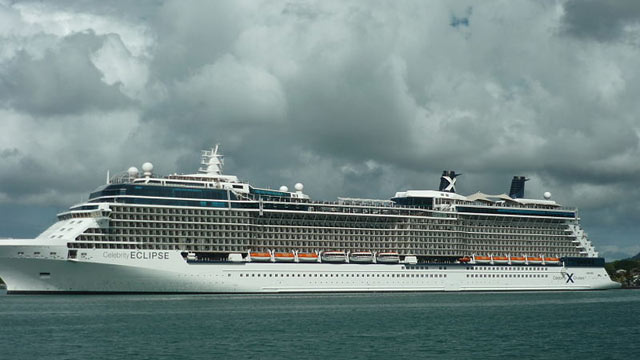 PHOTO: Celebrity Eclipse in the Castries harbor in Saint Lucia, December 2012.