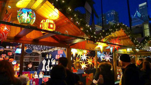 PHOTO: A German-style Christmas market is shown in Chicago.