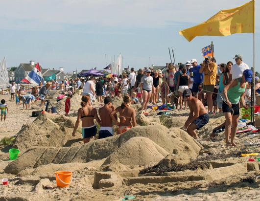 Sandcastles in Nantucket