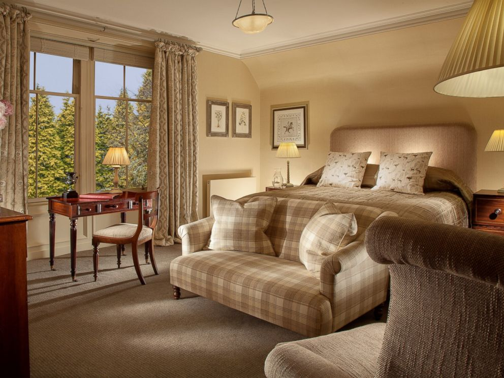 PHOTO: A view of the MacKintosh Room at the Cromlix hotel.