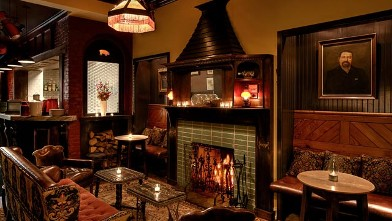 PHOTO: Dandelion Pub Fireplace