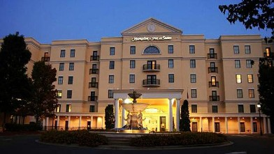 PHOTO: The Hampton Inn Suites South Park is the home of delegates from Pennsylvania during the 2012 Democratic National Convention in Charlotte, N.C.