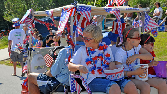 PHOTO: Duck celebrates the Fourth with a fun, kid-friendly parade featuring funky homemade floats and stars-and-stripes costumery.