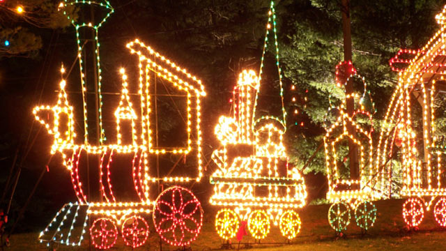 PHOTO: The Edaville Christmas Festival of Lights is one of the most popular Massachusetts family activities.