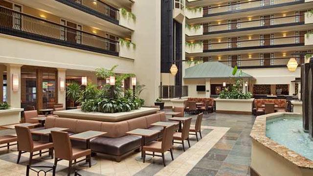 PHOTO: The atrium at the Embassy Suites, Columbus, OH.