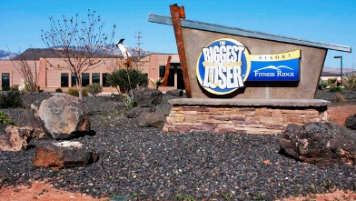 PHOTO: Welcome to the Biggest Loser resort in Fitness Ridge Utah.