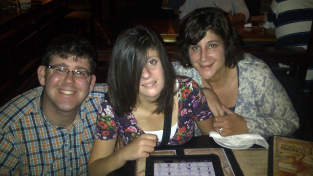 PHOTO: Carly's brother Matthew Fleischmann (left) with Carly (center) and her mother Tammy Fleischmann (right) in October 2011.