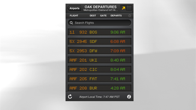 PHOTO: FlightBoard's mobile app
