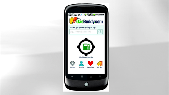 PHOTO: GasBuddy's mobile app