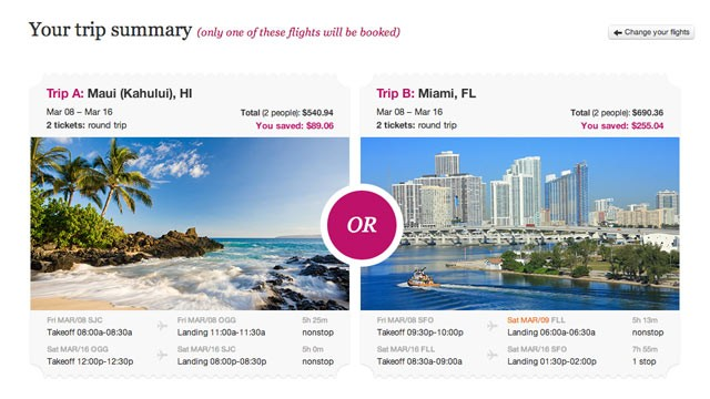 PHOTO: GetGoing.com is a new flight booking site where travelers pick two destinations they'd like to visit, but the ultimate decision is out of their hands.