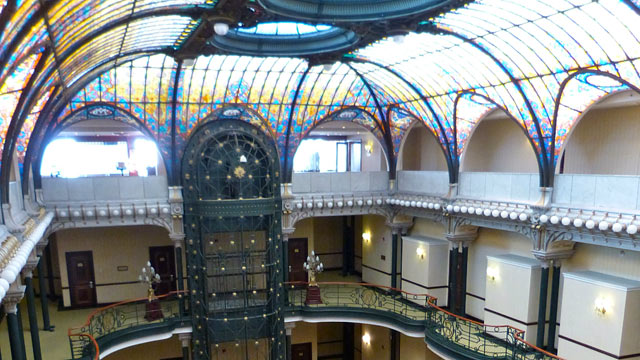 PHOTO: The Art Nouveau architecture of the Gran Hotel Ciudad de Mexico for any other hotel in the world.