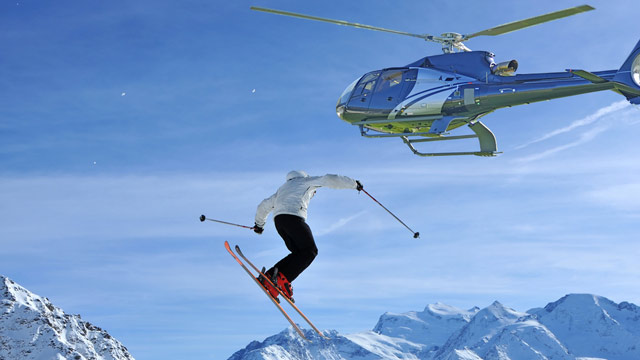 PHOTO: Heli-skiing get skiers to un-trafficked parts of popular winter destinations like Telluride (through The Hotel Telluride) and the Resort at Squaw Creek.