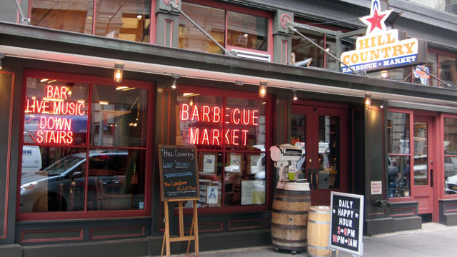 PHOTO: Hill Country Barbecue Market in New York.