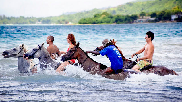 PHOTO: Horseback Swim, Ocho Rios