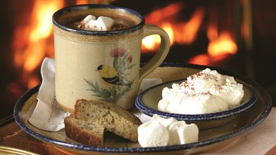 PHOTO: Hot Cocoa service at the Blantyre in Lenox, Mass.