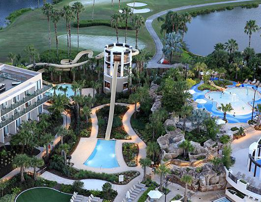 World's Coolest Hotel Water Slides