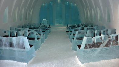 PHOTO: Come to get married, renew vows or even get baptized. The Ice Hotel chapel opens every year on Christmas day when it is formally handed over to the Swedish Church.
