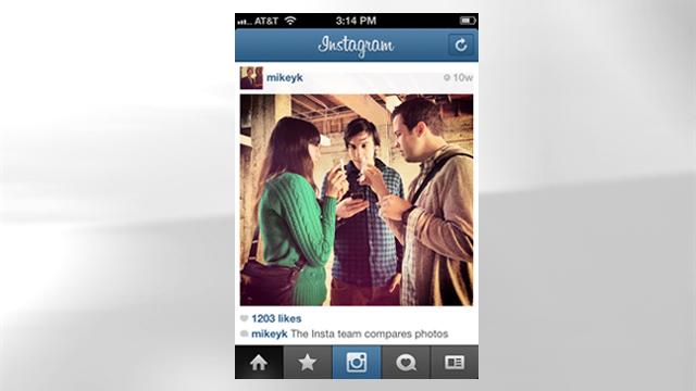 PHOTO: Instagram's mobile app