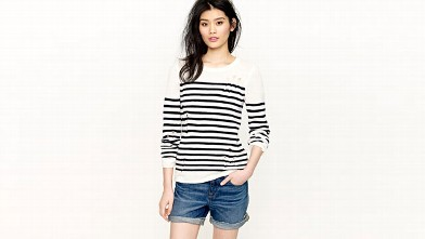 PHOTO: Altuzarra for J.Crew Serge sweater: A French spin on J.Crew classics, our exclusive capsule collection created in collaboration with CFDA/Vogue Fashion Fund.