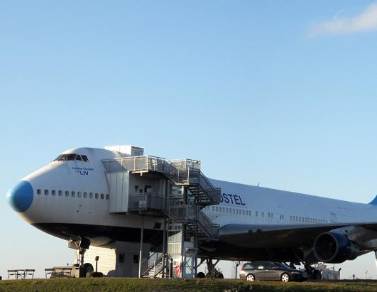 Spend the Night in a Jumbo Jet Hostel