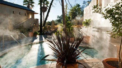 PHOTO: The Inn is a Mediterranean-style villa with three lush courtyards - each with its own exquisite saline pool.