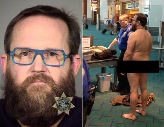 Man Strips Naked at Airport Screening