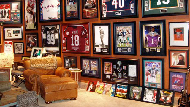 PHOTO: Wyatt P. has a great collection of memorabilia. So much that he ran out of wall space for further memorabilia.