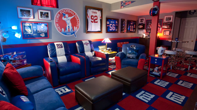 PHOTO: Alfred Wasilewski's Giants Man Cave.