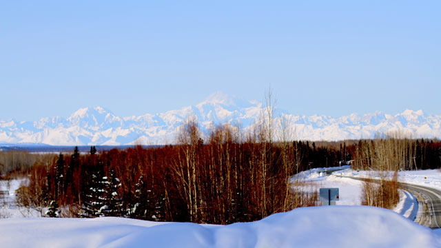 PHOTO: A snow-covered Mt. McKinley.