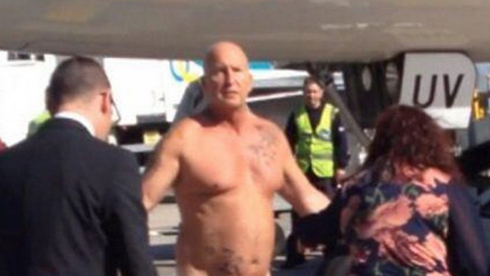 PHOTO: A drunken jet passenger, who had arrived in Manchester on  an easyJet flight from Malta, was taser