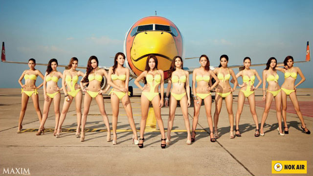 PHOTO: This Nok Air calendar has caused controversy with the Thai government.