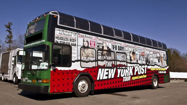 PHOTO: The York Post Headlines Tour leaves every Thursday at 10 a.m and 2 p.m. on the corner of 57th Street and 7th Avenue.