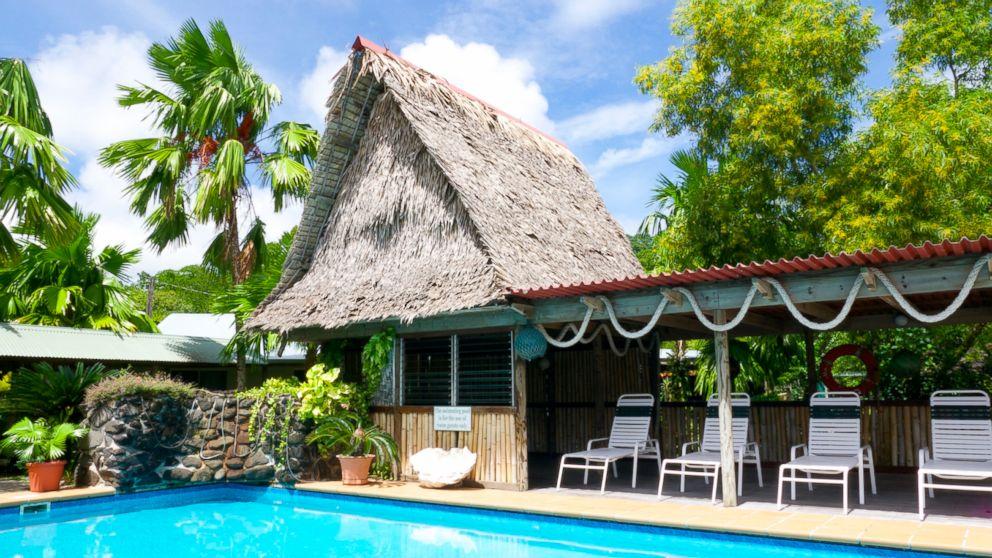 PHOTO: The pool at Kosrae Nautilus Resort.