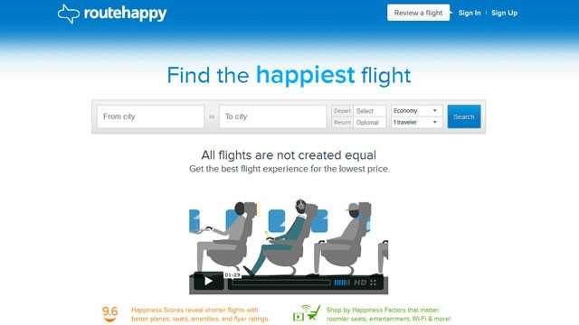 PHOTO: RouteHappy is a new site that promises to make your flights more enjoyable.