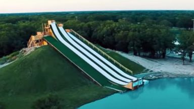 PHOTO: The Royal Flush water slide in Waco, Texas, is a huge summer hit.