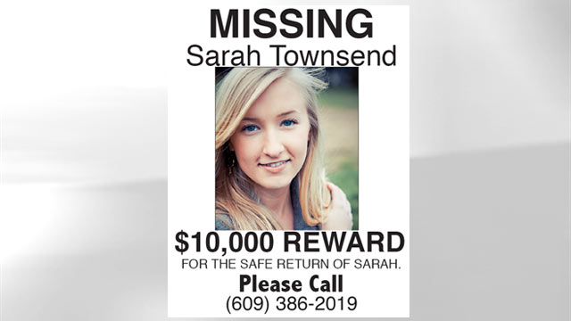 PHOTO: The family of missing teen Sarah Townsend are setting up a billboard, handing out flyers at train stations and offering a $10,000 reward for their daughters safe return.